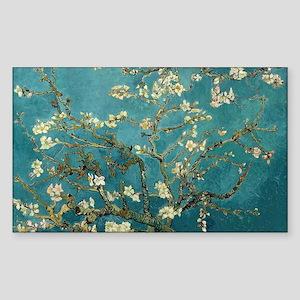 Van Gogh Almond Branches In Bl Sticker (Rectangle)