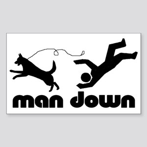 man down acd Rectangle Sticker