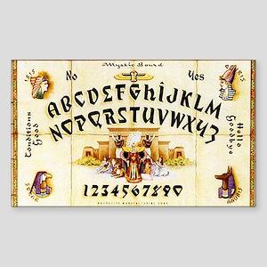Vintage Egyptian Ouija Board Sticker (Rectangle)