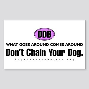 DDB What Goes Around Comes Ar Sticker (Rectangular