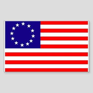 Betsy Ross Flag Rectangle Sticker