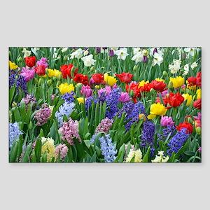 Spring garden flowers Sticker (Rectangle)