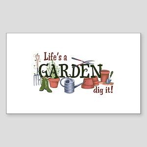 Life's A Garden Dig It! Sticker