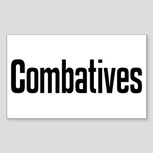 """""""Combatives"""" Rectangle Sticker"""