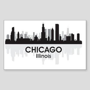 Chicago Skyline Sticker (Rectangle)