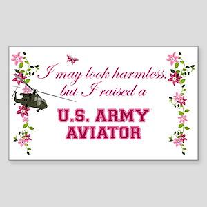I Raised An Army Aviator Sticker