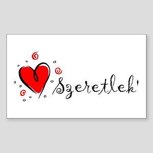 """I Love You"" [Hungarian] Rectangle Sticker"