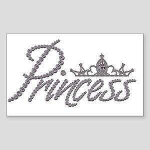 Diamond Princess and Tiara Sticker (Rectangle)
