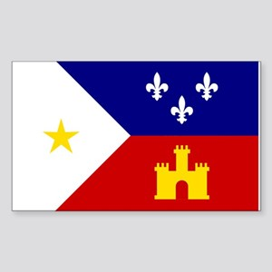 Flag of Acadiana Louisiana Sticker