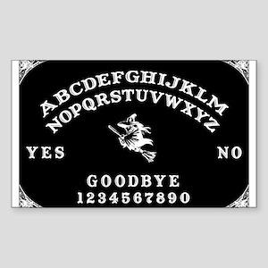Witch Ouija Board Rectangle Sticker