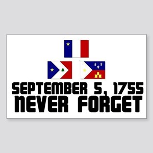 Never Forget w/Flags Sticker (Square)