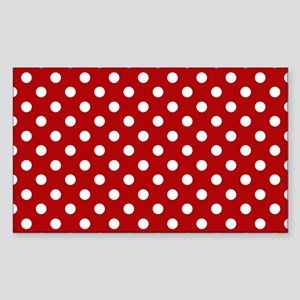 red-polkadot-laptop-skin Sticker (Rectangle)