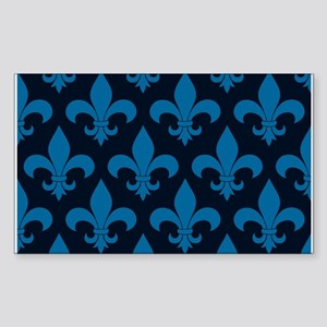 Blue Fleur de lis French Pattern Parisian Design S