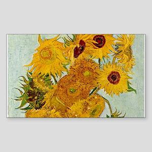 Vincent Van Gogh Sunflower Painting Sticker