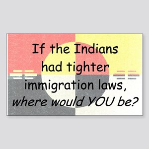 Immigration Laws Sticker (Rectangle)