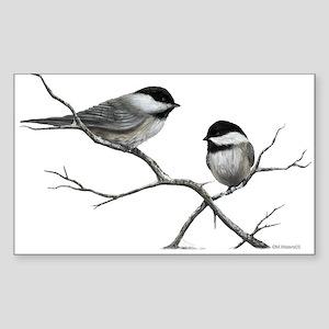 chickadee song bird Sticker