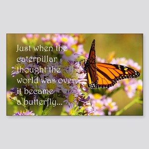 Butterfly Proverb Sticker (Rectangle)