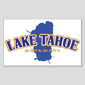 Lake Tahoe with map coordinates Sticker