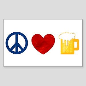 Peace Love Beer Sticker