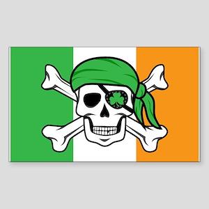 Irish Jolly Roger - Pirate Flag Sticker