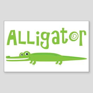 Cute Alligator Sticker (Rectangle)