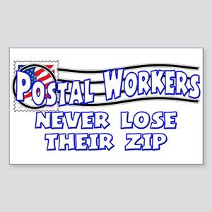 Postal Worker Rectangle Sticker