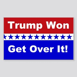 Trump Won Get Over It! Sticker (Rectangle)