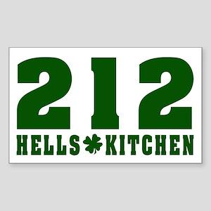 212 Hells Kitchen New York Rectangle Sticker
