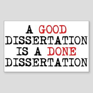 Dissertation Sticker (Rectangle)