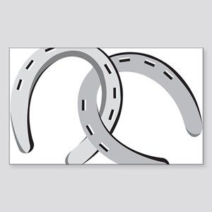 Horseshoes Sticker (Rectangle)