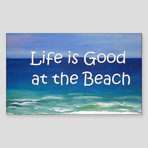 Beach Sticker (Rectangle)