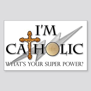Catholic Sticker (Rectangle)