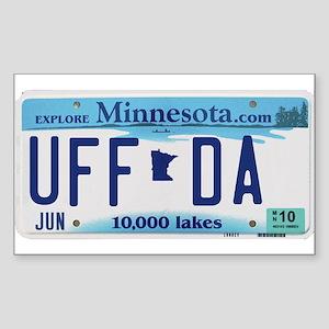 "Minnesota ""Uffda"" Sticker (Rectangle)"