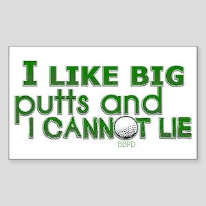 I Like Big Putts Sticker