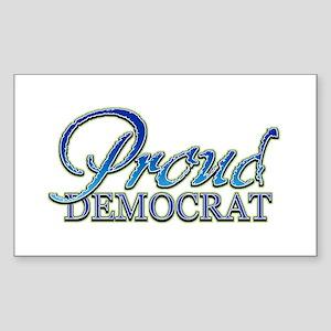 Classy Proud Democrat Rectangle Sticker
