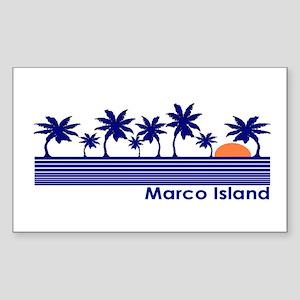 Marco Island, Florida Rectangle Sticker