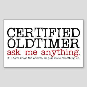 Certified Oldtimer Rectangle Sticker