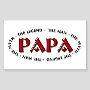 Papa - The Legend Rectangle Sticker