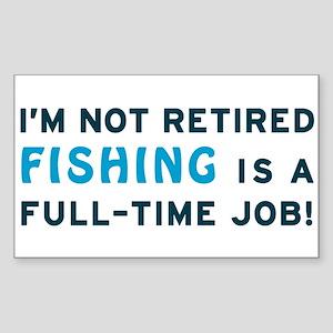 Retired Fishing Gag Gift Sticker (Rectangle)
