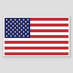 USA American Flag Rectangle Sticker