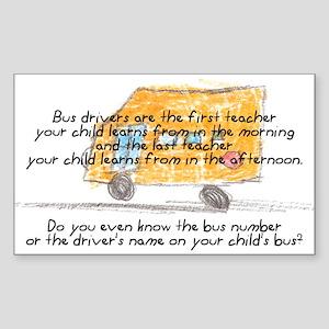 First and Last Teacher Rectangle Sticker