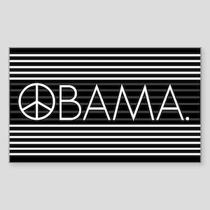 OBAMA STRIPES Rectangle Sticker