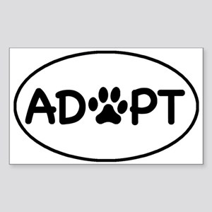 Adopt White Oval Oval Sticker