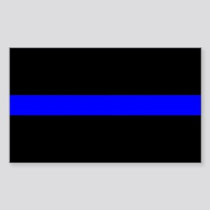 The Thin Blue Line Rectangle Sticker