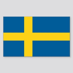 Swedish Flag Sticker (Rectangle)
