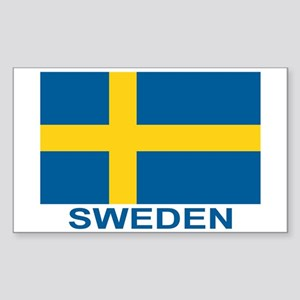 Swedish Flag (w/title) Sticker (Rectangle)