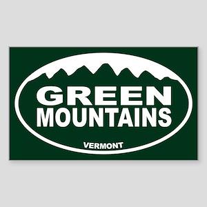 Green Mountains Sticker (Rectangle)