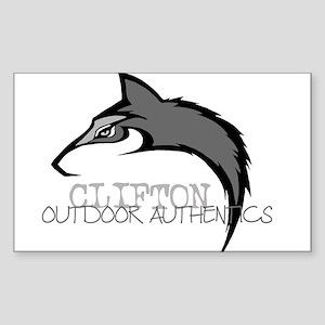 Clifton Outdoor Wolf Rectangle Sticker