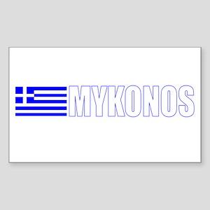 Mykonos, Greece Rectangle Sticker