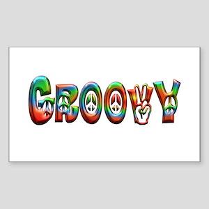 GROOVY Sticker (Rectangle)